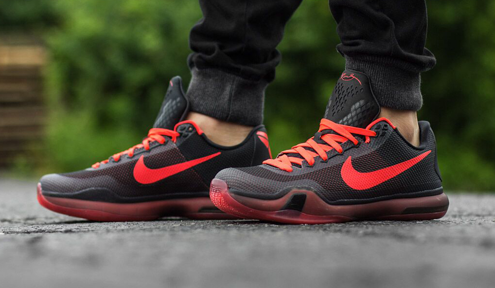 new concept af515 c884f See the Nike Kobe 10  Bright Crimson  On-Feet