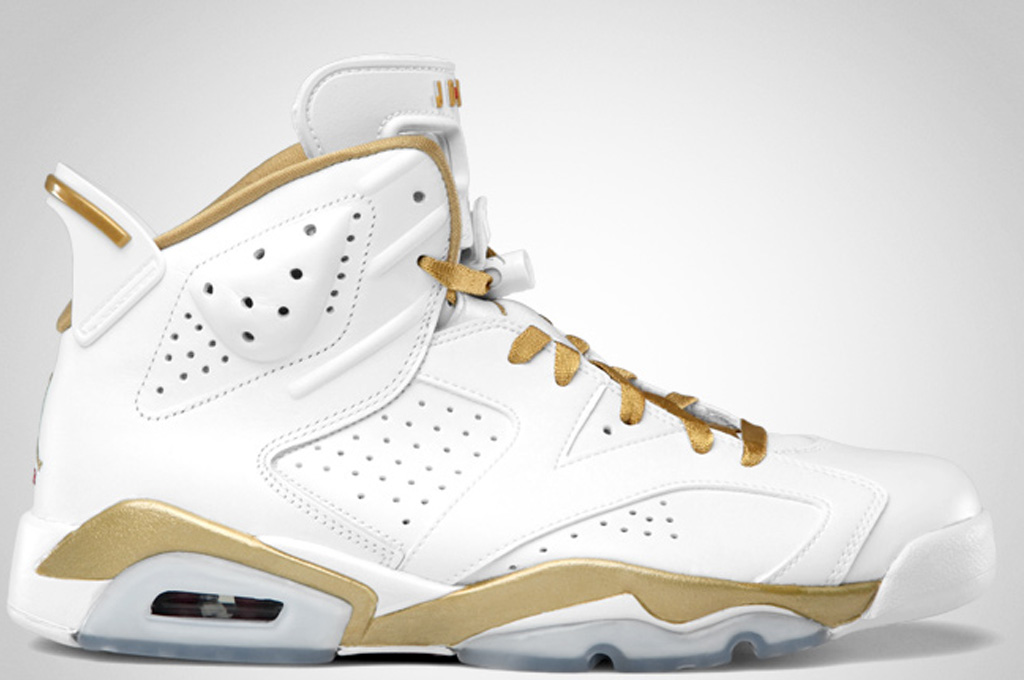 Air Jordan Retro 6 Blanc Et Or