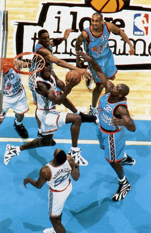 073a68bdd32 ... and one of Shaq's monster dunk over David Robinson that somehow wasn't  included in that top ten. What's your favorite shoe from the 1996 All Star  Game?