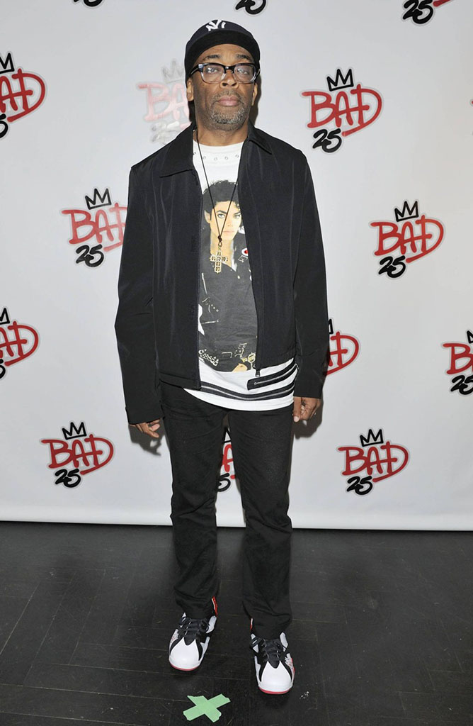 Spike Lee wearing Air Jordan VII 7 Bad 25 by Van Monroe (4)