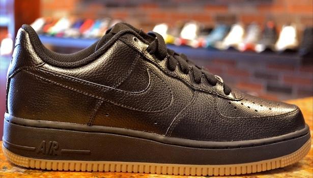 Nike Air Force 1 Low Black/Black-Gum Medium Brown