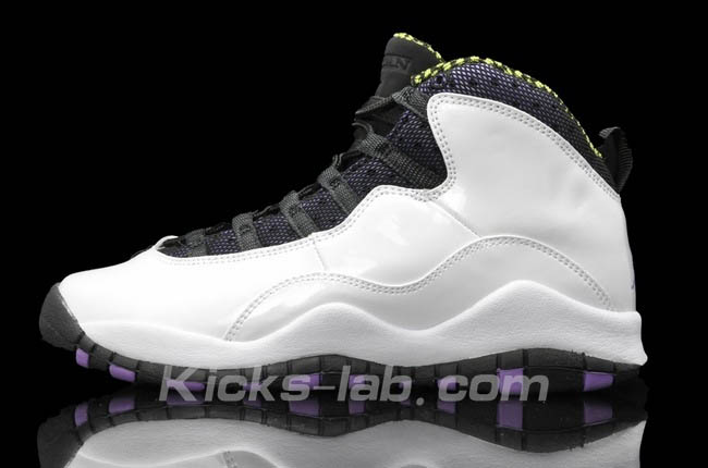 Air Jordan 10 X Girls White Ultraviolet Cyber Black 487211-120