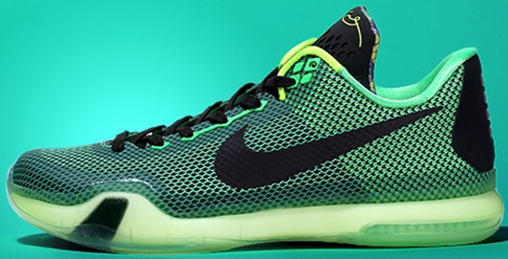 Nike Kobe X Poison Green/Sequoia-Squadron Green-Volt