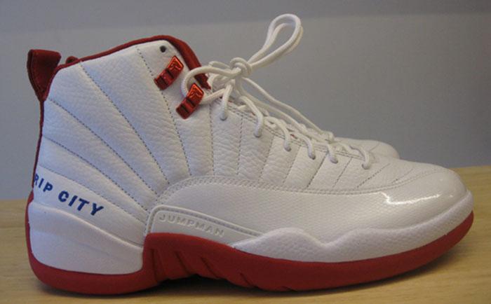 reputable site e163f 52cd6 Rip Hamilton s Air Jordan XII 12 White White-Red Detroit Pistons Home PE (
