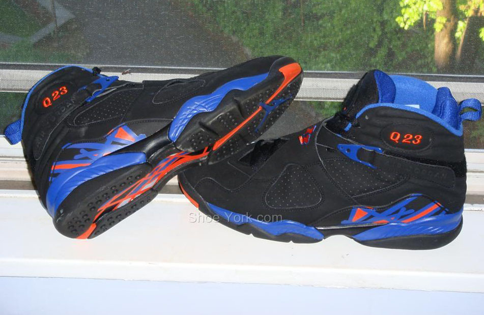 the latest 89872 205a1 Quentin Richardson wearing Air Jordan VIII 8 New York Knicks Away PE (2)