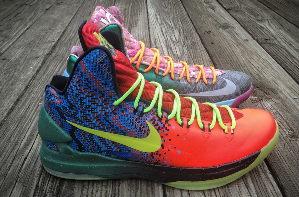 "Nike KD V ""What the KD"" by Mache Custom Kicks (1)"