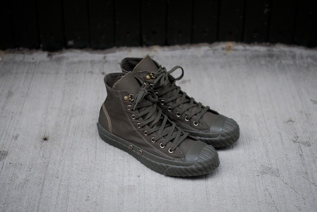 65edee15367a3a Nigel Cabourn x Converse Bosey Hi - NATO Green