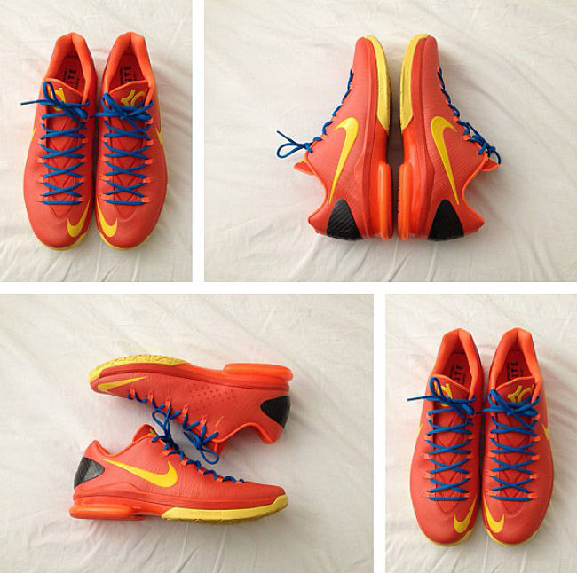 Nike KD V Elite Team Orange Tour Yellow Total Orange Photo Blue 585386-800 (1)