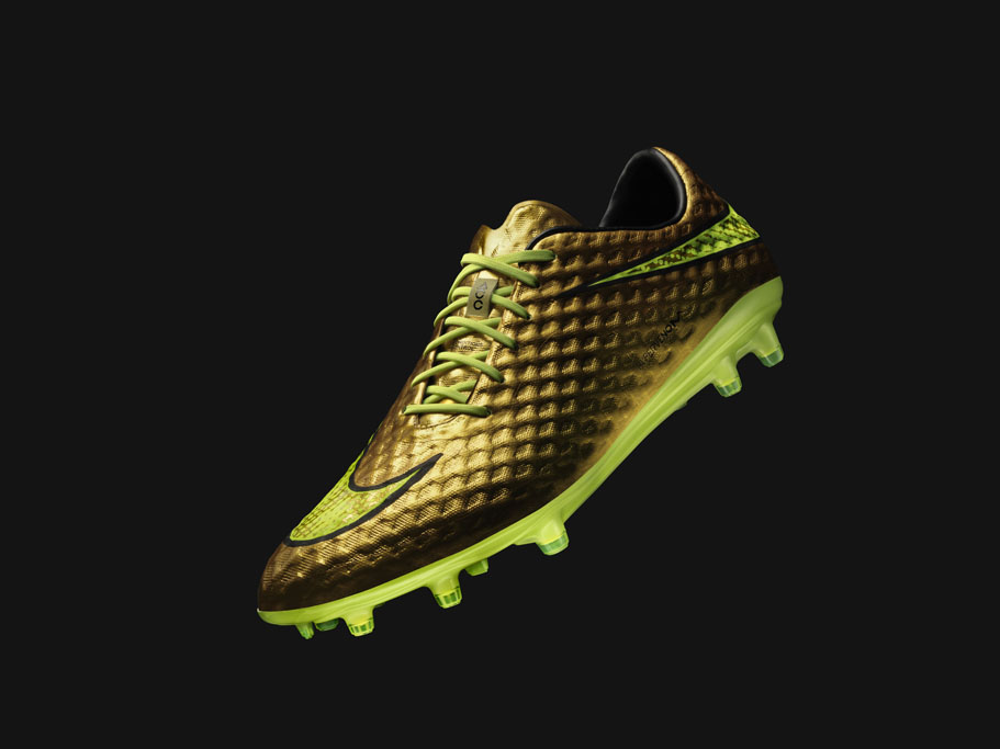 nike hypervenom soccer cleats gold