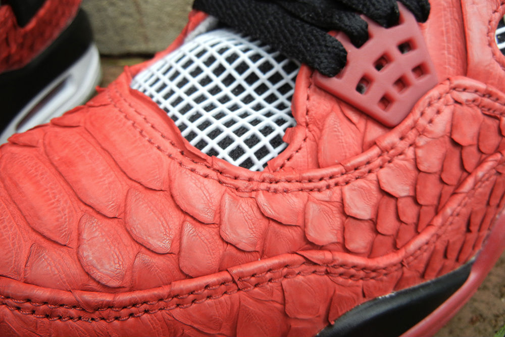 "Air Jordan IV 4 Retro ""Red Python"" by JBF Customs (5)"