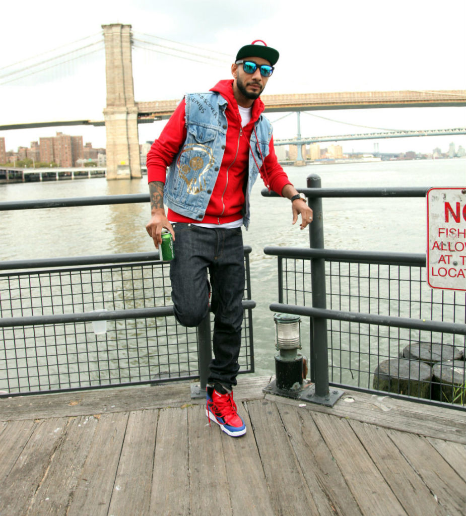 Swizz Beatz wearing Reebok Twilight Zone Pump Spider Man (4)