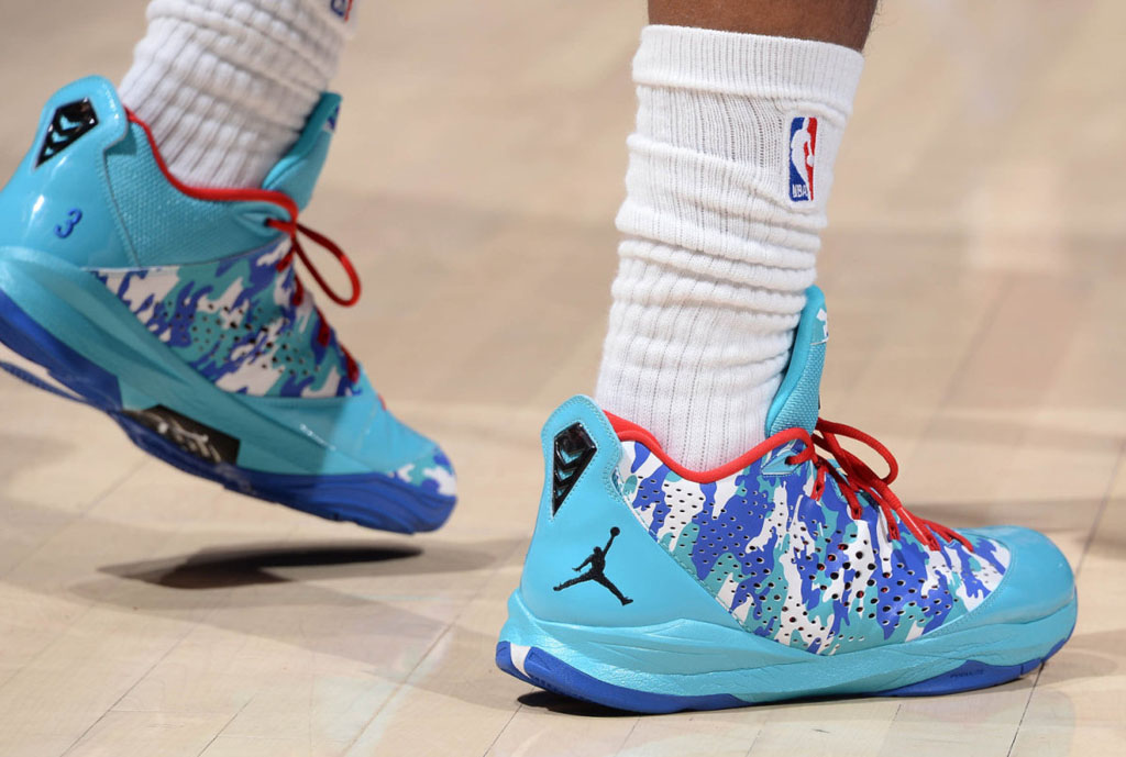 Chris Paul wearing Jordan CP3.VII Fan Designed Camo iD PE