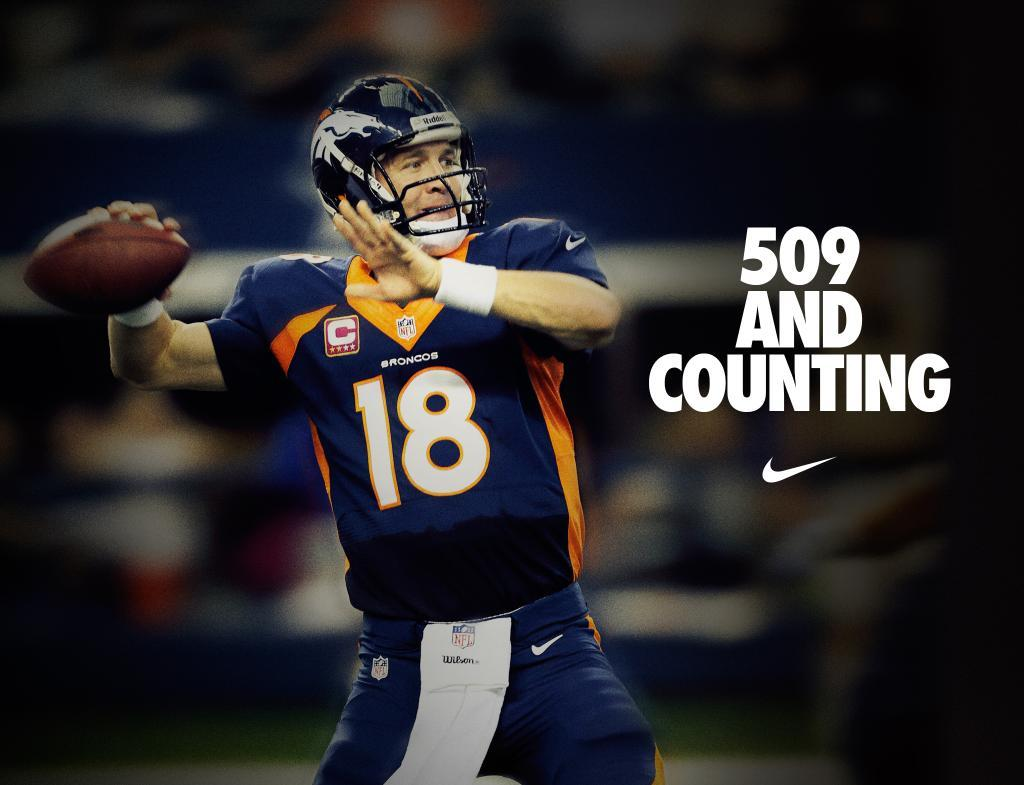 Nike Congratulates Peyton Manning for Breaking Passing Touchdown Record