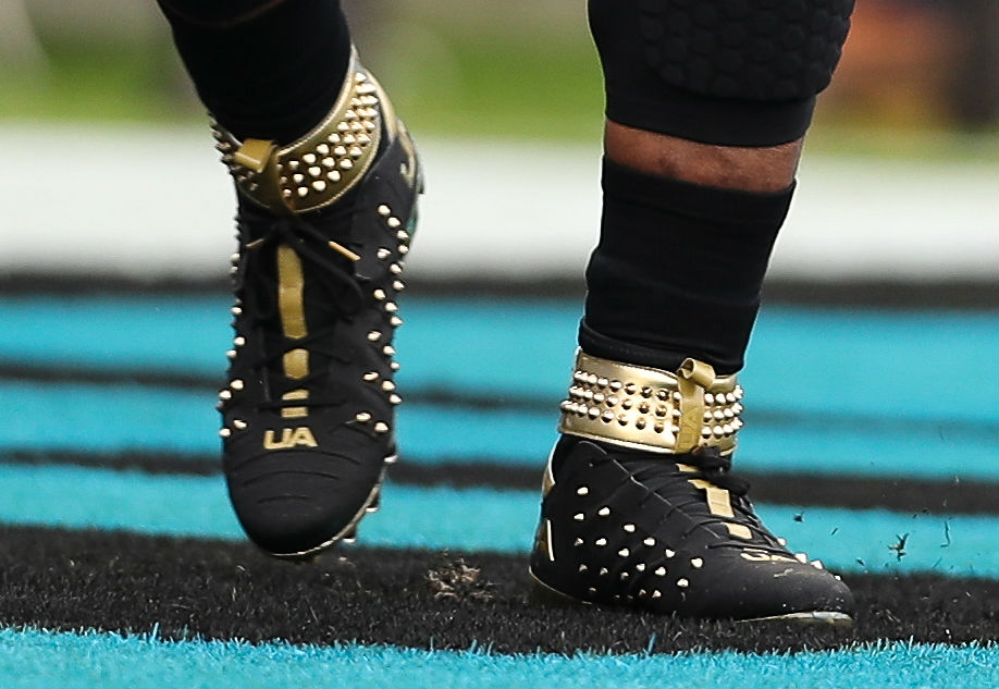 Cam Newton Spiked Under Armour Cleats Left | Sole Collector