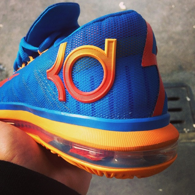 Nike KD 6 Elite Blue/Orange-Mango 642838-400 (2)