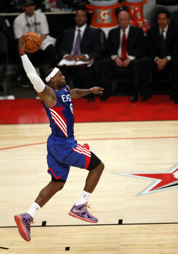 LeBron James wearing Nike LeBron X All-Star Area 72 (1)