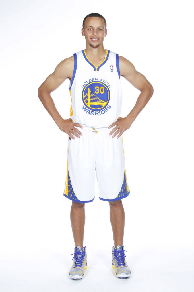 Stephen Curry wearing Under Armour Anatomix Spawn PE