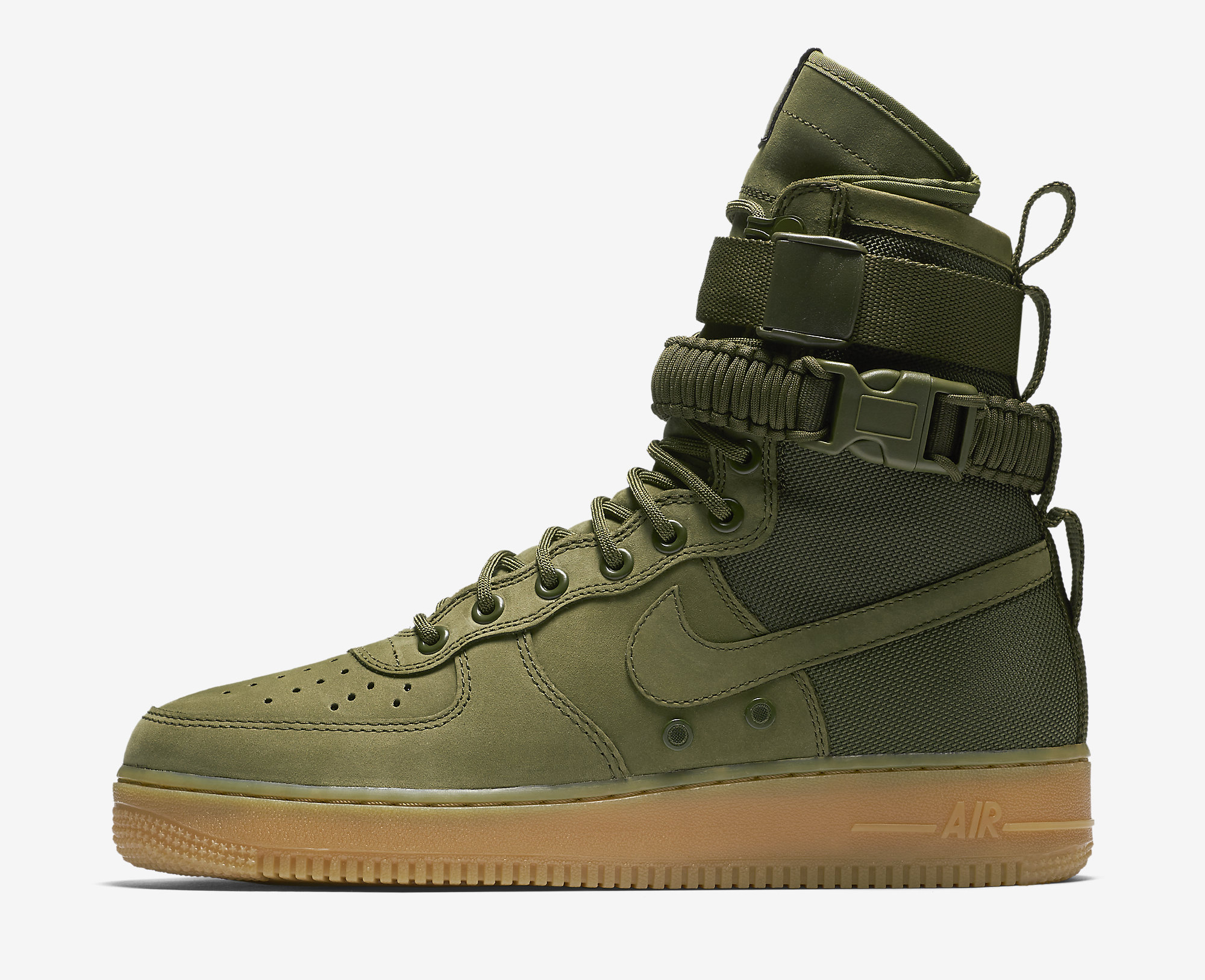 84d72b9b699a Image via Nike Nike SFAF1 Faded Olive Gum Light Brown