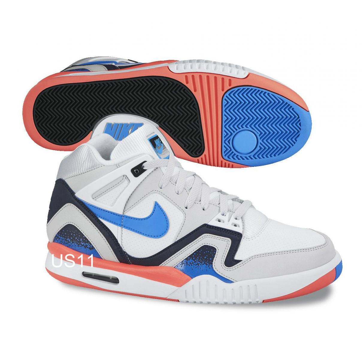 Nike Air Tech Challenge II - White Blue-Red  5c42d6aba9