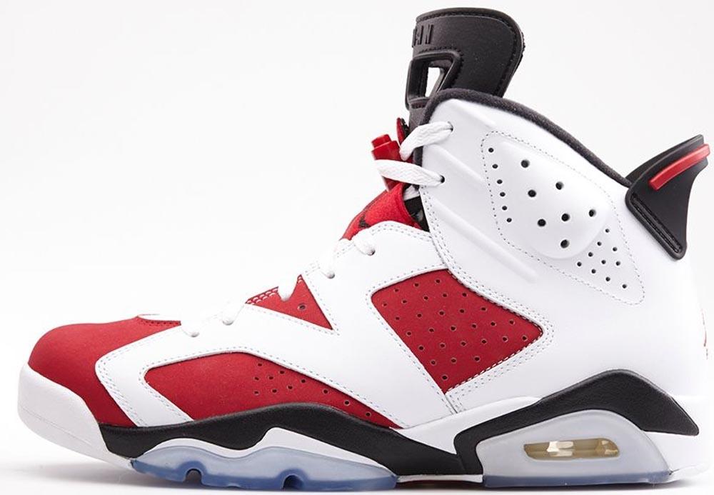 Air Jordan 6 Retro White/Carmine-Black