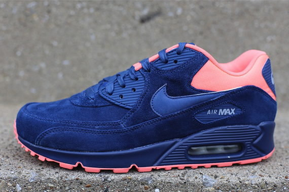 finest selection 287b9 3120f The Brave Blue Atomic Pink Nike Air Max 90 Premium is now available via  select accounts such as Oneness.