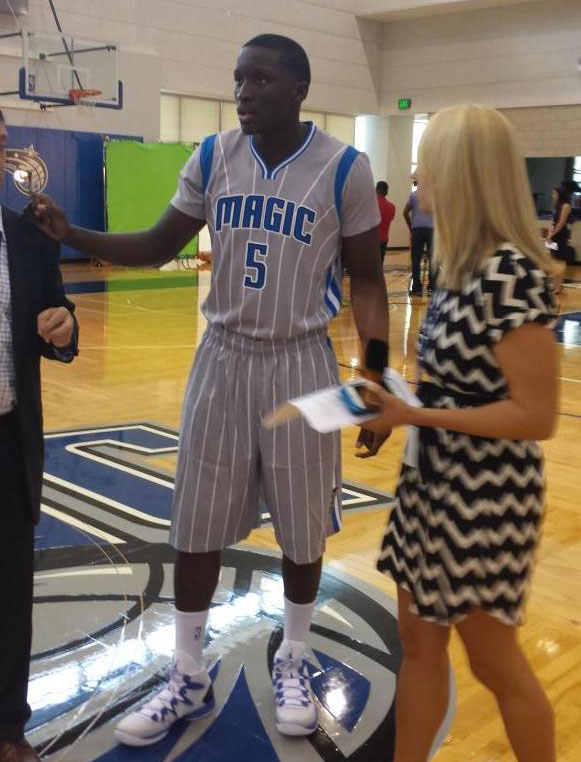 Orlando Magic Silver Sleeved Pride Uniforms (3)