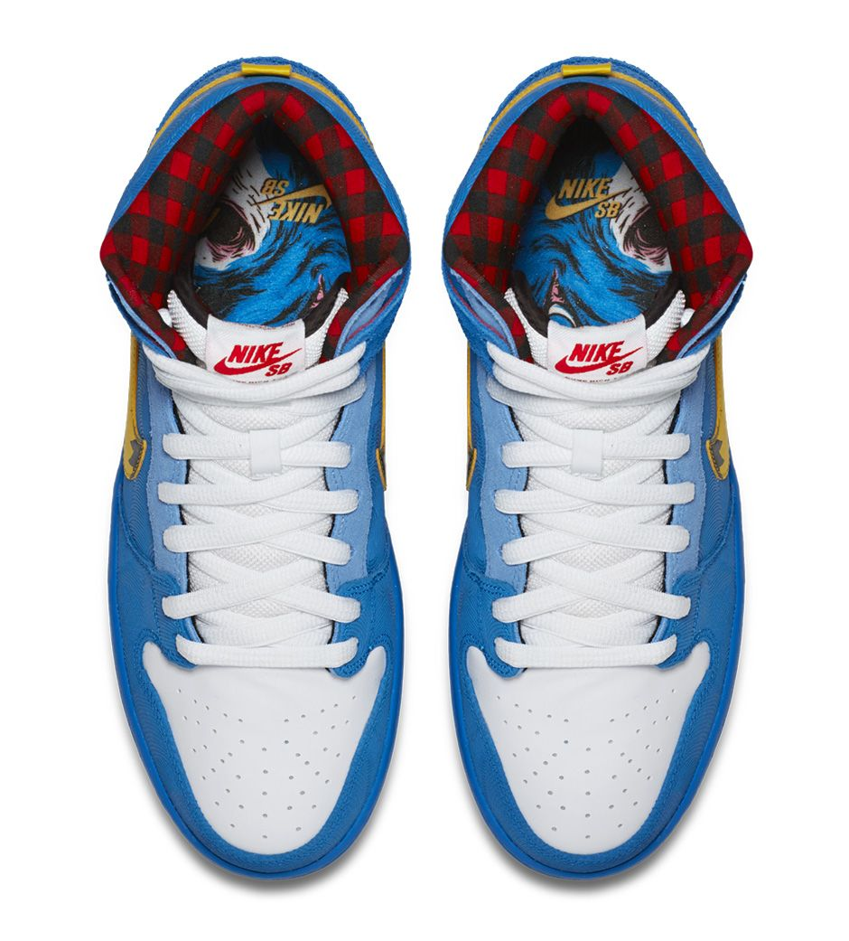 the latest af75e 56aed Familia x Nike Dunk High SB Paul Bunyan Babe Blue Ox 313171-471 (6