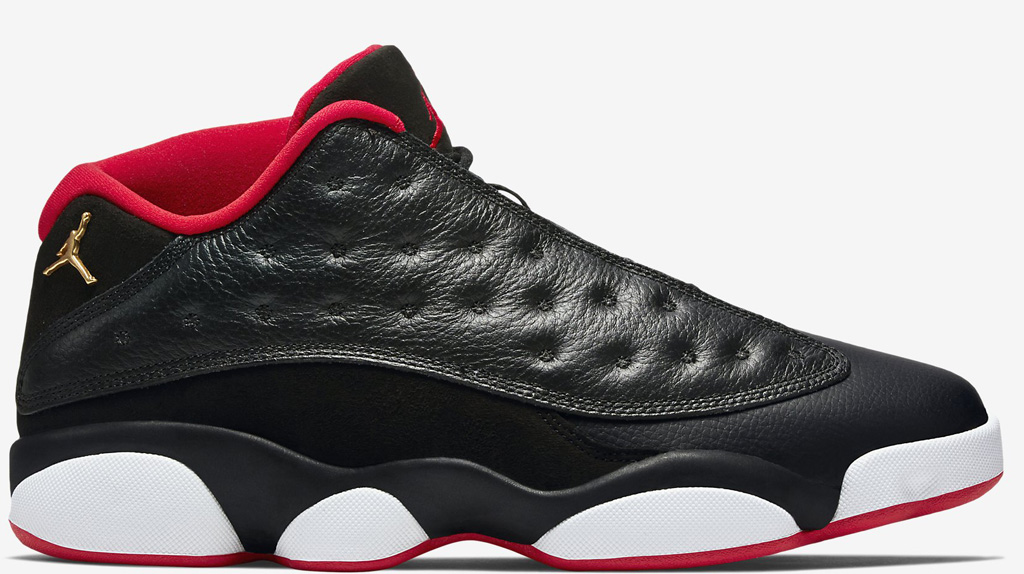 Air Jordan 13 Bas Noir / Rouge Universitaire / Vert