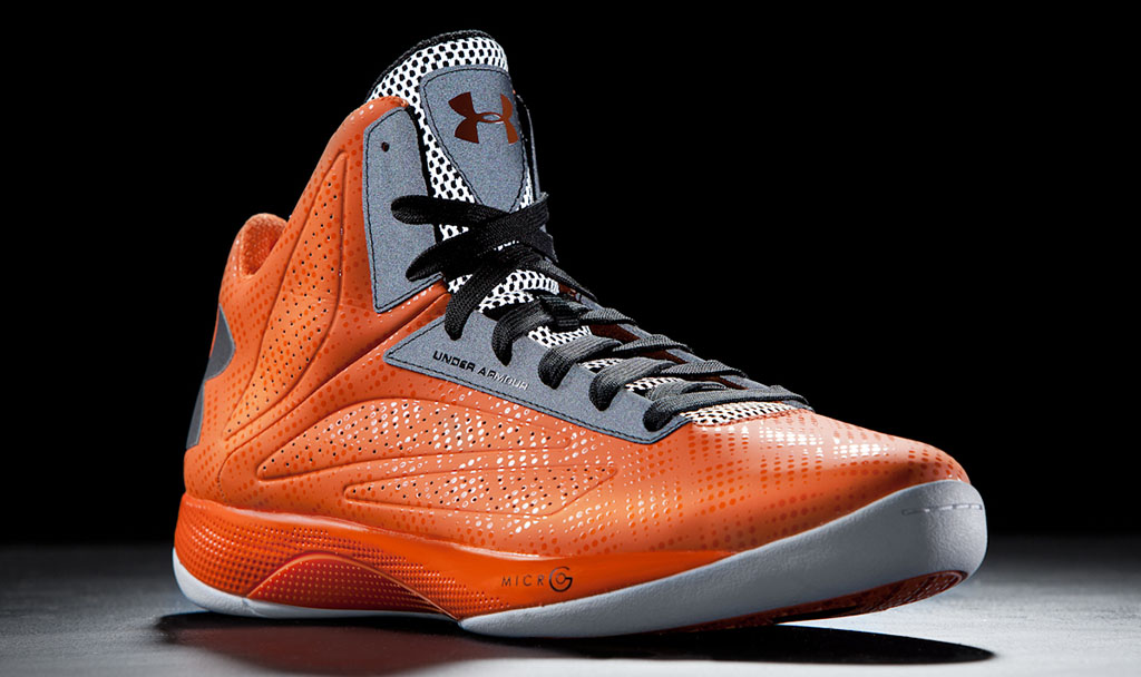 ua micro g torch orange white