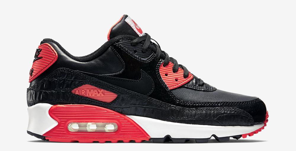 Nike Air Max 90 Premium Black Reptile Crocodile Infrared