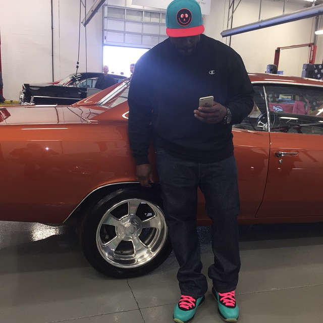 DJ Funk Flex wearing Nike LeBron VIII 8 South Beach