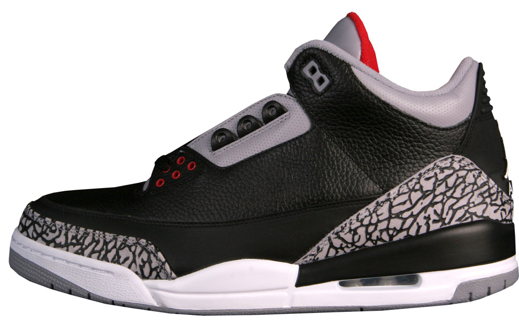 online store e3ccf b1e2f Air Jordan 3 Retro Collezione 'CDP' 340254-061 Black/Cement Grey-Fire Red