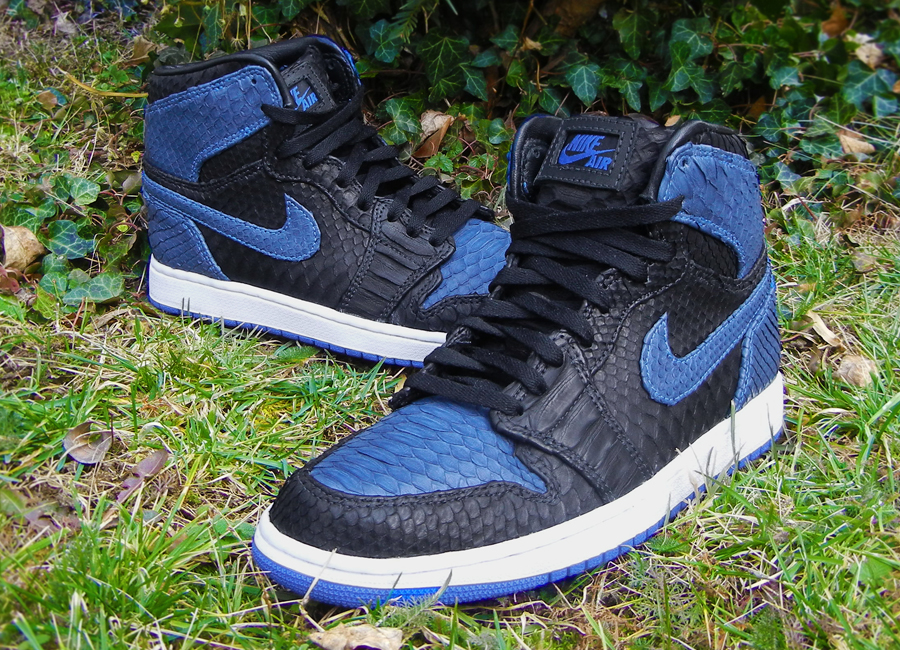 Air Jordan I 1 Royal Python by JBF Customs