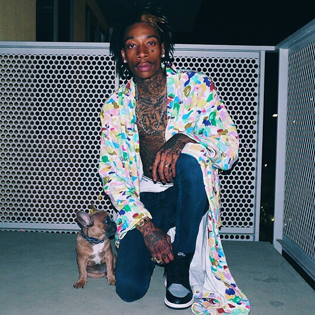 Wiz Khalifa wearing Air Jordan I 1 Shadow
