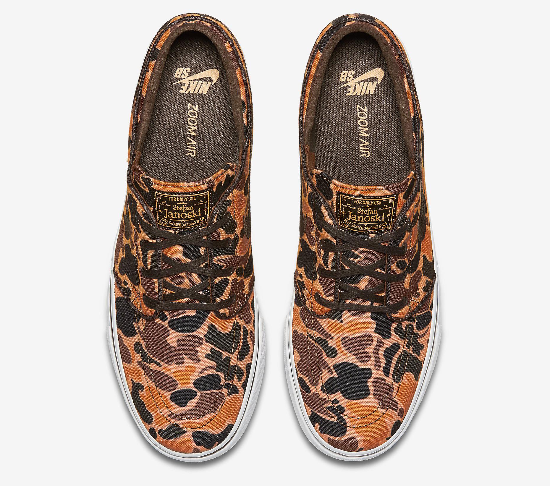 Camouflage Nike SB Janoski Top