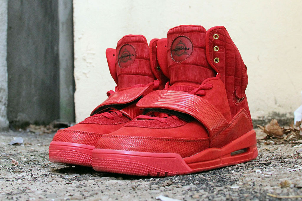 Nike Air Yeezy 'Red Croc Lizard Suede' by JBF Customs (2)