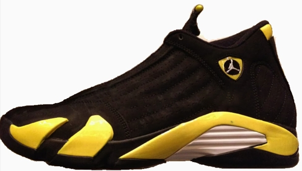 Air Jordan 14 Retro Black/Vibrant Yellow-White