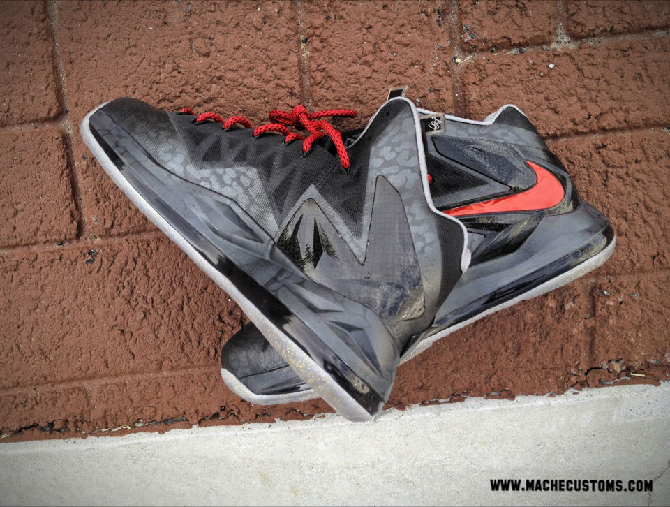 "Nike LeBron X PS Elite ""Killer Elite"" by Mache Custom Kicks (4)"
