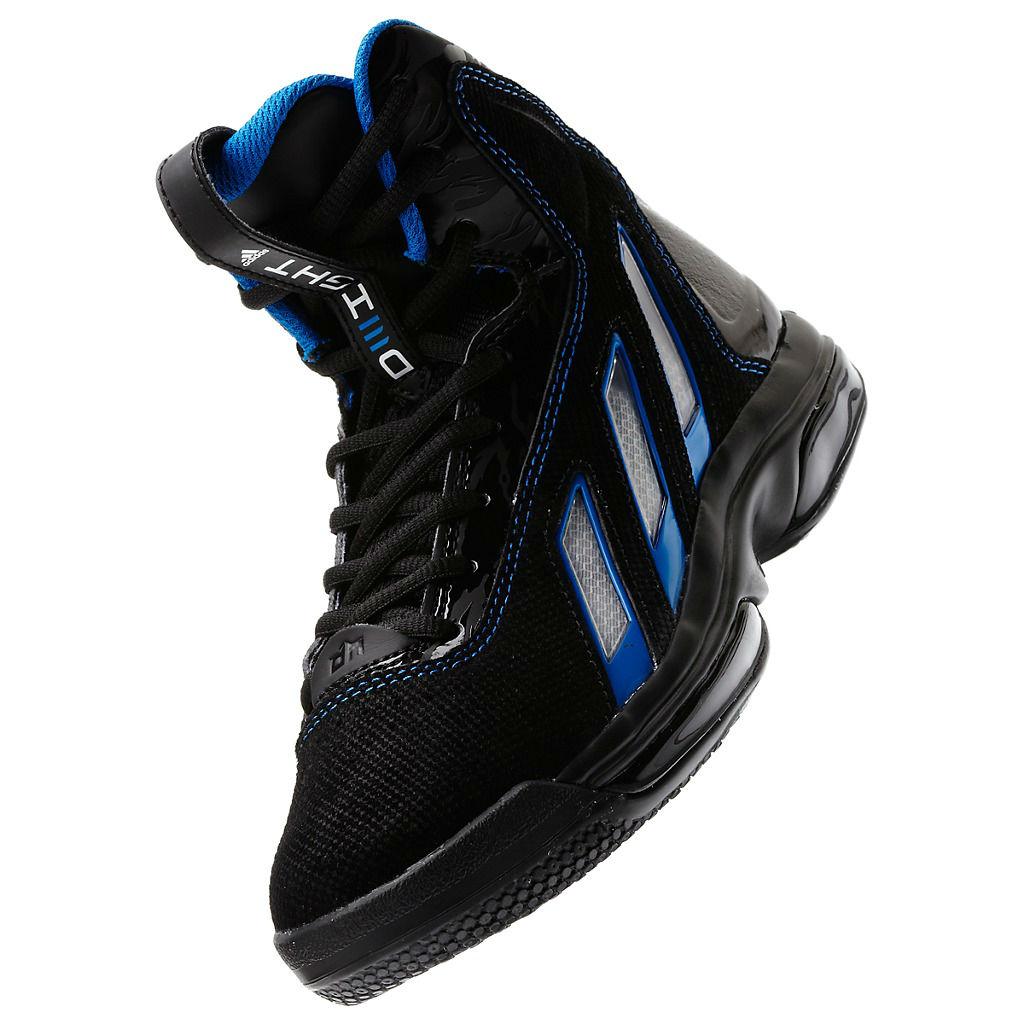 uk availability 89014 08672 adidas adiPower Howard 3 Kids Black Running White Bright Blue G47465 (2)