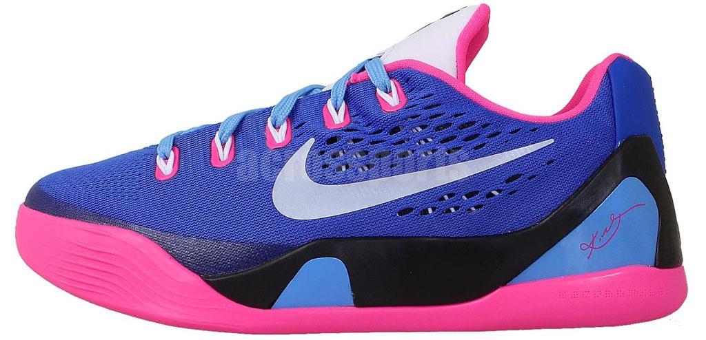 save off ff1cf 83446 Nike Kobe IX 9 EM GS Hyper Pink White-Hyper Cobalt 653593-600