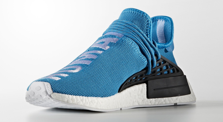 Pharrell Adidas NMD Blue BB0618 Medial