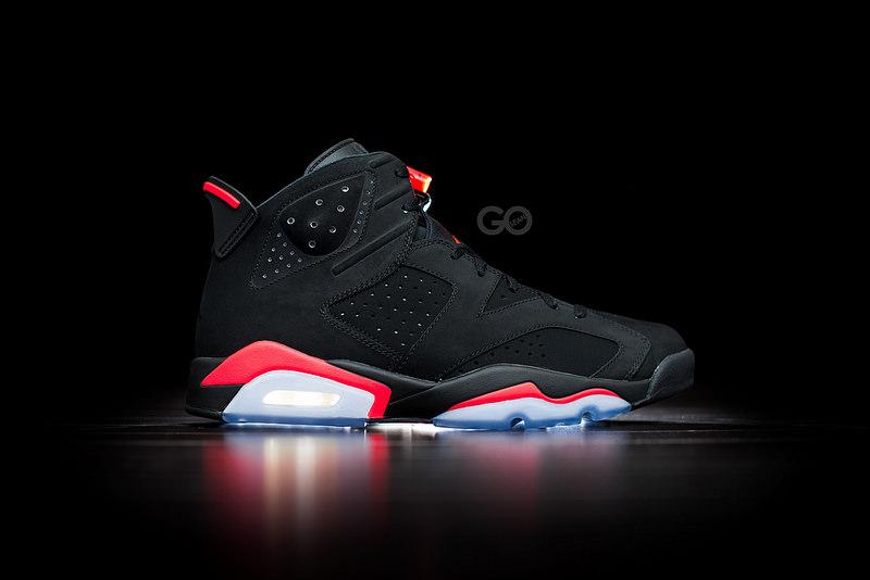 Air Jordan Retro  Basketball Shoe Black Infrared