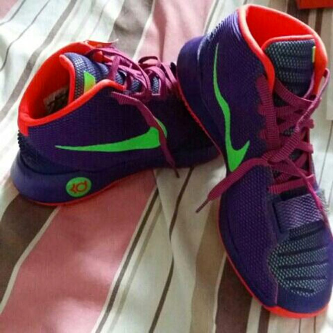 nike kd trey 5 orange purple