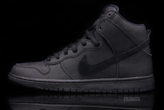 nike dunk high black