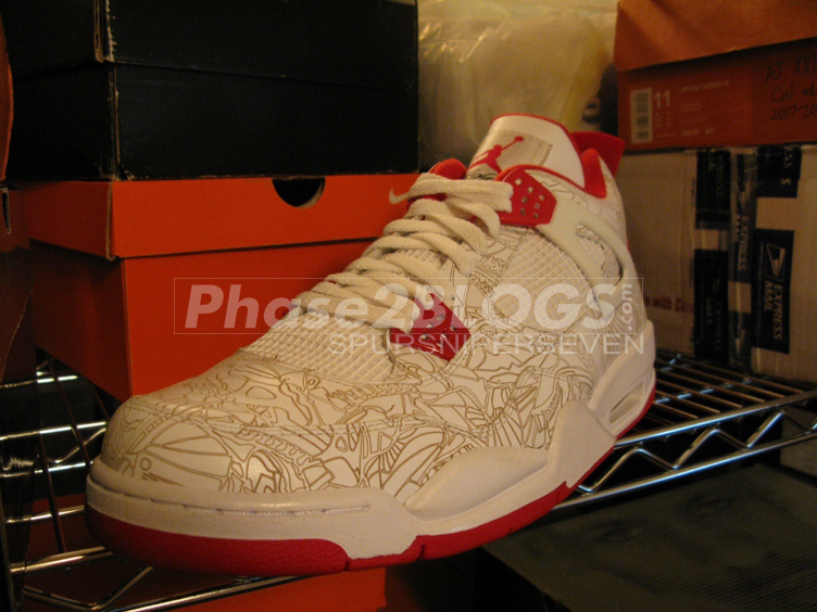 outlet store 3b09b dd219 Carmelo Anthony Air Jordan 4 Olympic Laser PE (2008)