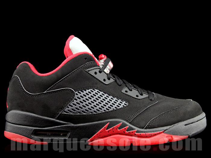 new product 35b7f f8816 Air Jordan 5 Low Alternate 90 Black Red 819171-001 (1)