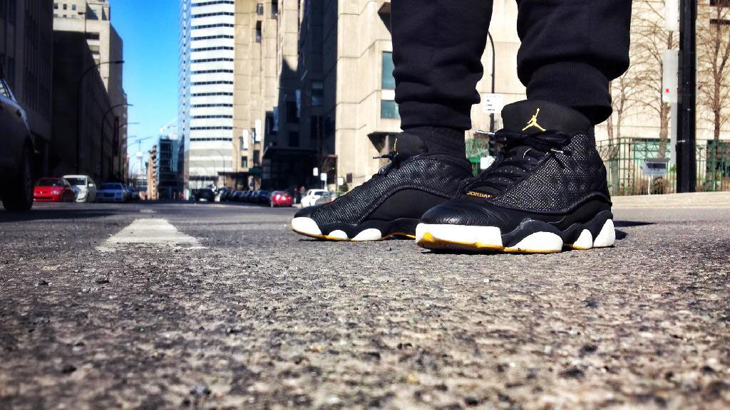 Spotlight: Forum Staff Weekly WDYWT? - 4.20.14 - Shooter wearing Air Jordan XIII 13 Low Black/Maize