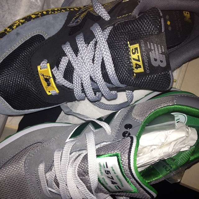 Raekwon Picks Up New Balance 574 Shelflife x Dr. Z & Stadium Grey