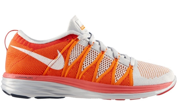 Nike Flyknit Lunar2 Pure Platinum/White-Atomic Orange-Bright Crimson
