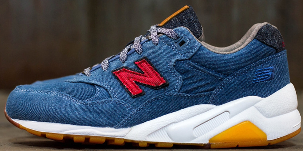 New Balance 580 Denim/Brown-Red